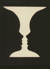 4. Illusion - Vase/Two Face Profiles. Psychology Today: An Introduction - Author: R. Bootzin. Copyright - The McGraw-Hill Companies, Inc.