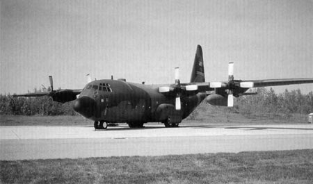 11. AC-139 Hercules, similar to the aircraft that crashed as a result of a bird strike at Eindhoven AFB in Holland on July 15, 1996; 34 lives were lost. Photo courtesy Denis Cloutier.